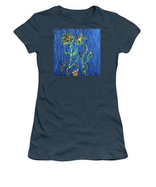 Women's T-Shirt (Junior Cut) featuring the painting Flower Dance by Vadim Levin