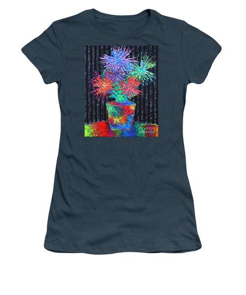 Flower-works Plant Women's T-Shirt (Junior Cut) by Jeremy Aiyadurai