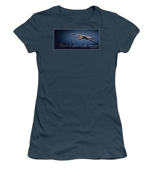 Flying Alone Women's T-Shirt (Junior Cut)