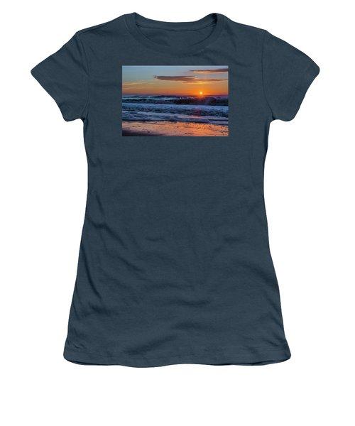 Women's T-Shirt (Junior Cut) featuring the photograph Folly Beach Sunrise by RC Pics
