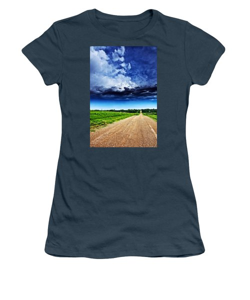 Forming Clouds Over Gravel Women's T-Shirt (Athletic Fit)