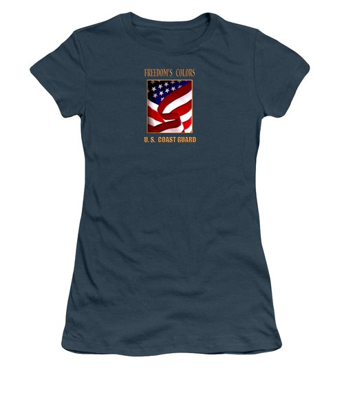 Freedom's Colors Uscg Women's T-Shirt (Junior Cut) by George Robinson