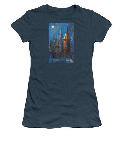 Women's T-Shirt (Junior Cut) featuring the painting From Medieval Times by Arturas Slapsys