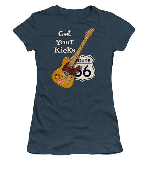 Get Your Kicks Women's T-Shirt (Junior Cut) by WB Johnston