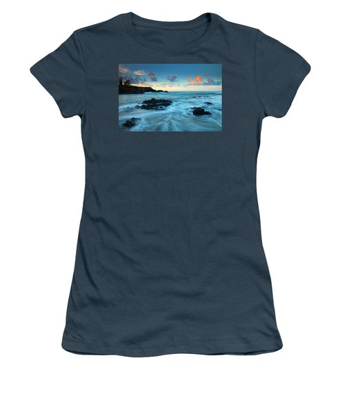 Glass Beach Dawn Women's T-Shirt (Junior Cut) by Mike  Dawson
