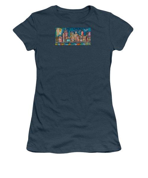 Goodnight Nashville Women's T-Shirt (Junior Cut) by Kirsten Reed