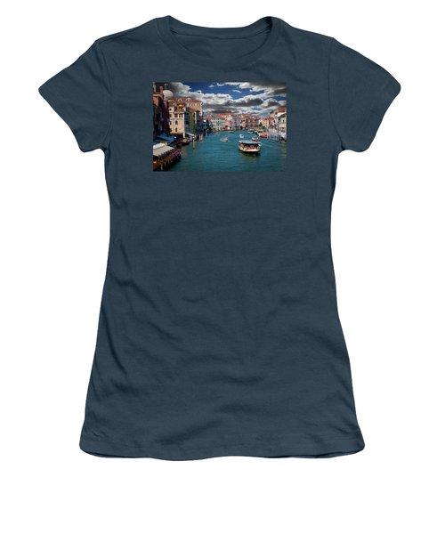 Women's T-Shirt (Junior Cut) featuring the photograph Grand Canal Daylight by Harry Spitz