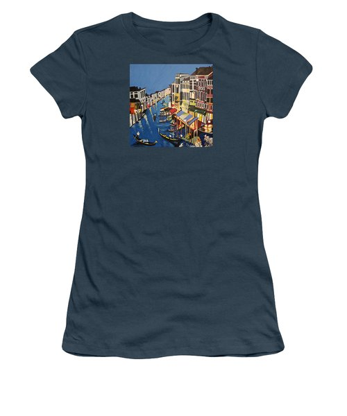Grande Canal Women's T-Shirt (Junior Cut) by Donna Blossom