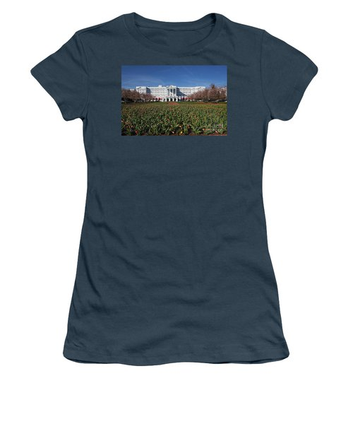 Women's T-Shirt (Junior Cut) featuring the photograph Greenbrier Resort by Laurinda Bowling