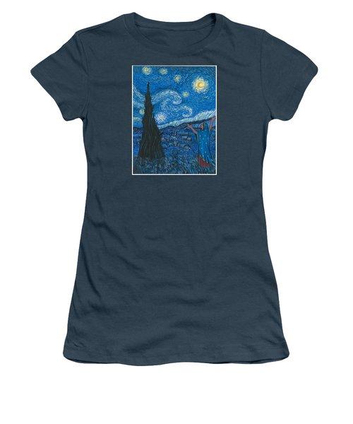 Guadalupe Visits Van Gogh Women's T-Shirt (Junior Cut) by James Roderick