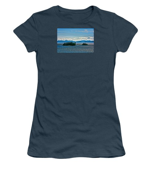 Hazy Alaskan Morning Women's T-Shirt (Junior Cut) by Lewis Mann