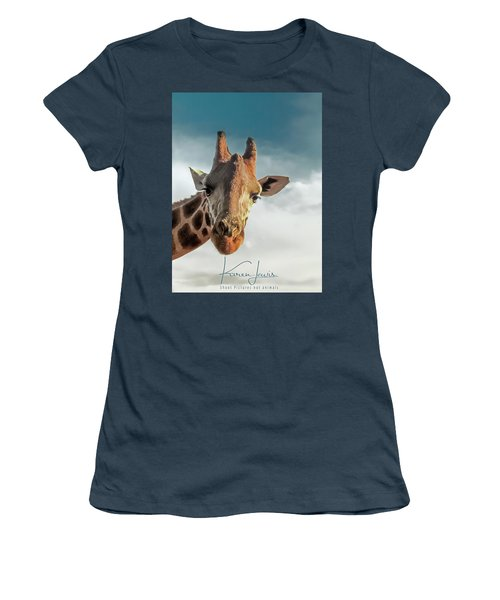 Women's T-Shirt (Junior Cut) featuring the photograph Hello Down There by Karen Lewis
