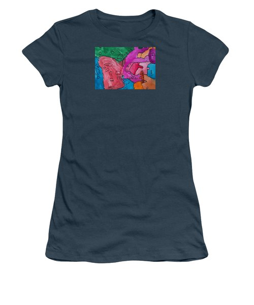 Women's T-Shirt (Junior Cut) featuring the painting Hollywood Studios 3 by Artists With Autism Inc