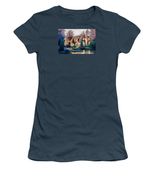 Women's T-Shirt (Junior Cut) featuring the painting Home In Paradise by Mario Carini
