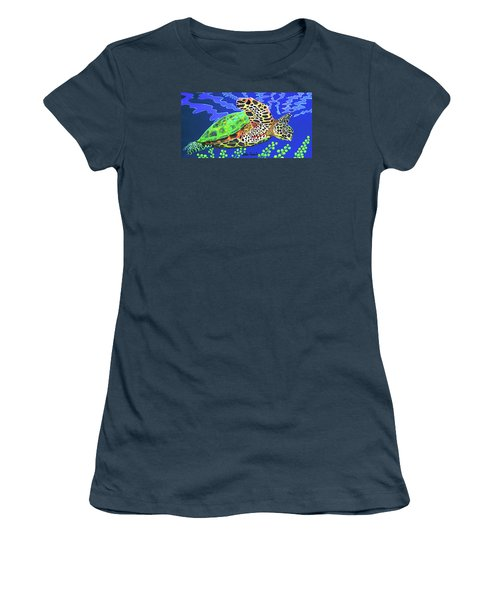 Honu Women's T-Shirt (Junior Cut) by Debbie Chamberlin