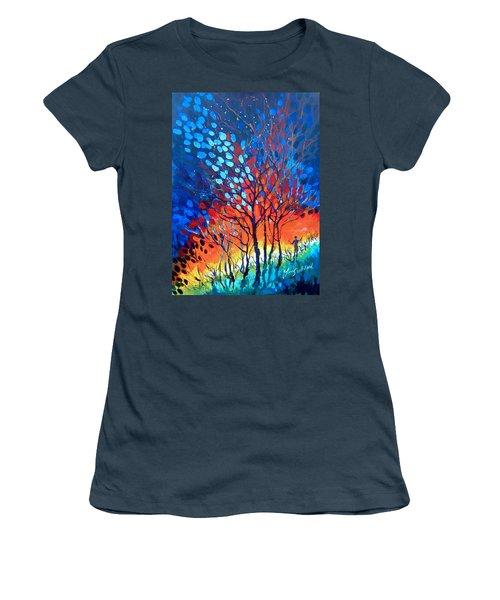 Horizons Women's T-Shirt (Junior Cut) by Linda Shackelford