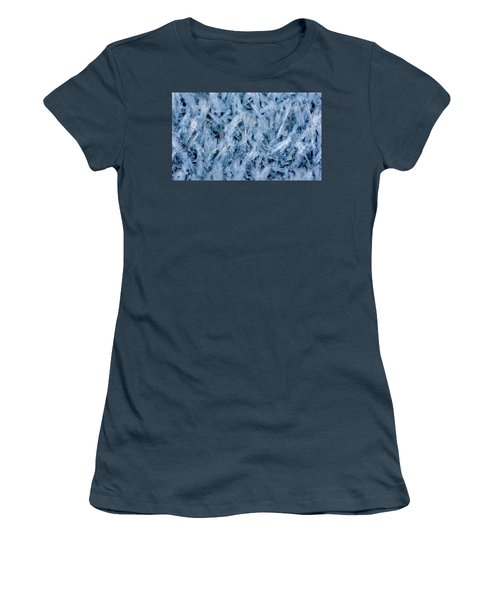 Ice Grass Growing Women's T-Shirt (Athletic Fit)