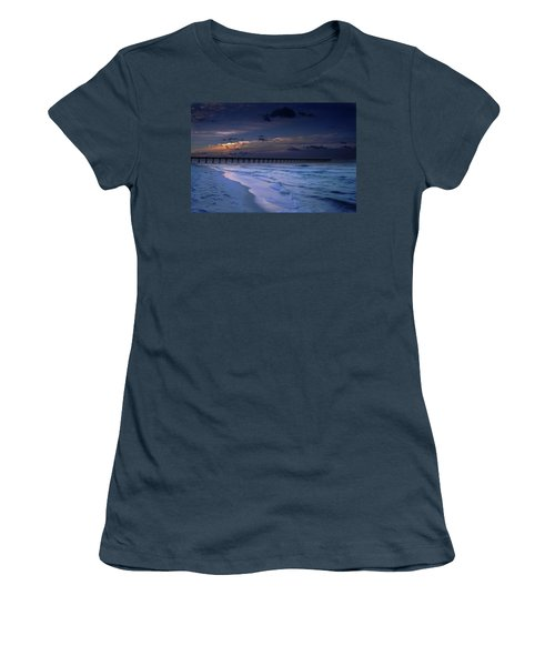 Women's T-Shirt (Junior Cut) featuring the photograph Into The Night by Renee Hardison