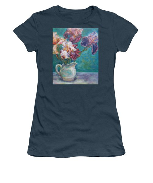 Iris Medley - Original Impressionist Painting Women's T-Shirt (Junior Cut) by Quin Sweetman