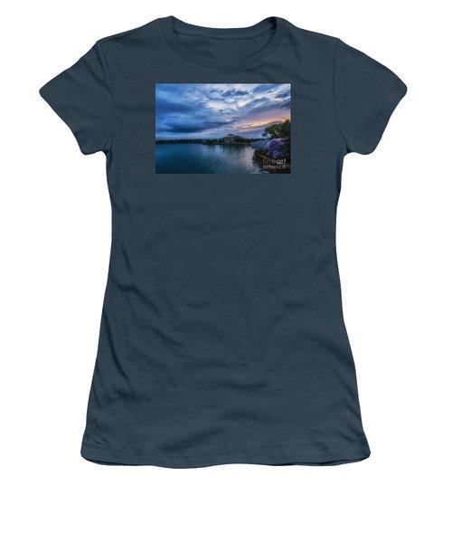 Jefferson Memorial Dawn Women's T-Shirt (Junior Cut) by Thomas R Fletcher