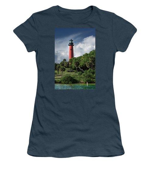 Jupiter Inlet Lighthouse Women's T-Shirt (Junior Cut) by Laura Fasulo