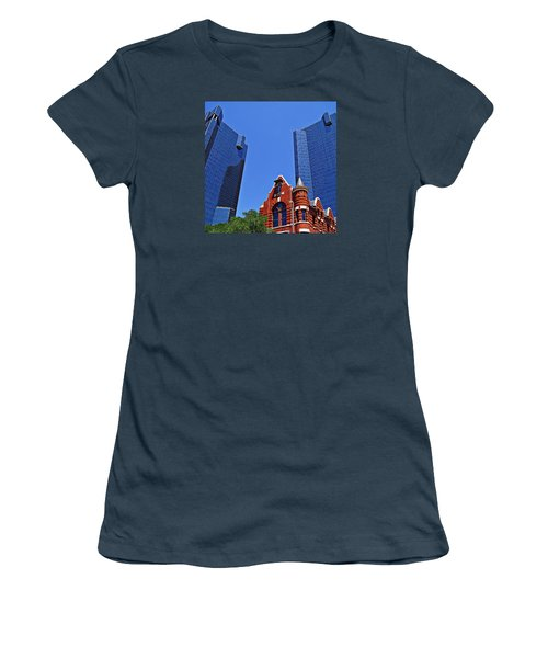 Women's T-Shirt (Junior Cut) featuring the photograph Knights Of Pythias Castle Hall by Kathy Churchman