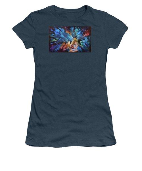 la flautista III Women's T-Shirt (Junior Cut) by Angel Ortiz