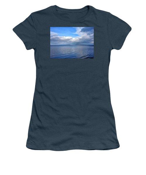 Lake Champlain From New York Women's T-Shirt (Junior Cut) by Brendan Reals
