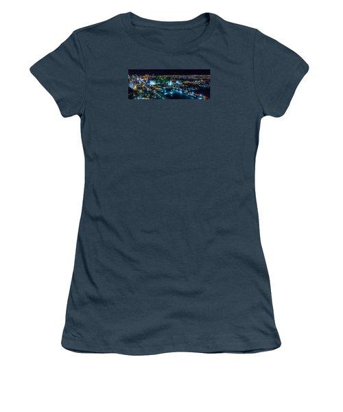 Las Vegas Looking North Women's T-Shirt (Junior Cut) by Michael Rogers