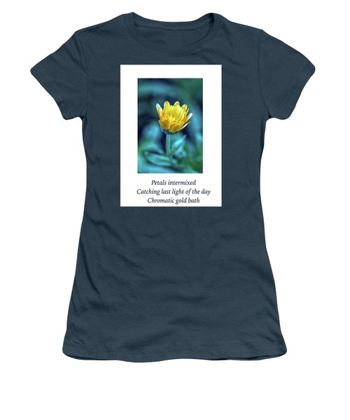 Last Light Haiku Women's T-Shirt (Junior Cut) by Constantine Gregory