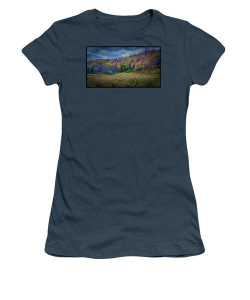 Late Fall On Green Knob Trail Women's T-Shirt (Junior Cut)