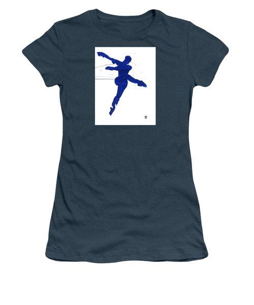 Leap Brush Blue 1 Women's T-Shirt (Junior Cut) by Shungaboy X