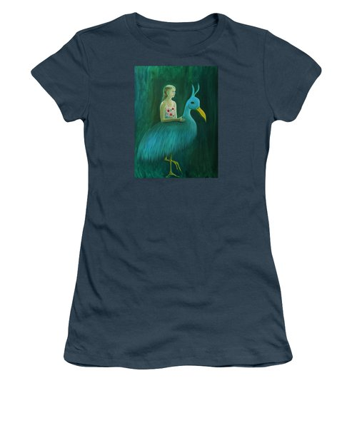 Women's T-Shirt (Junior Cut) featuring the painting Lend Me Your Strength by Tone Aanderaa