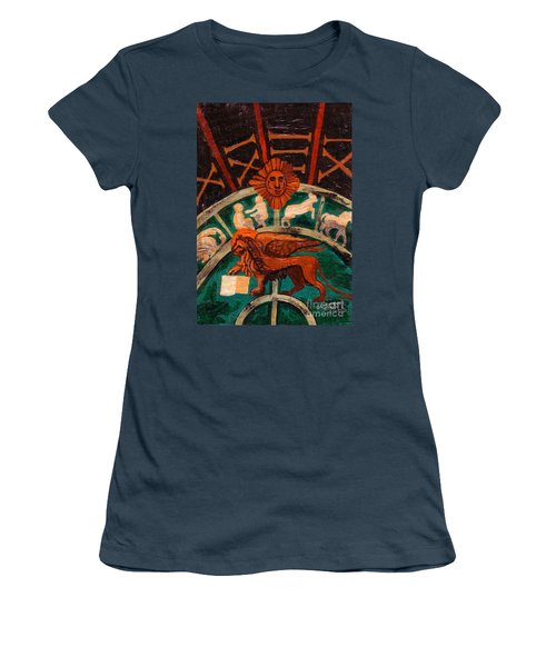 Women's T-Shirt (Junior Cut) featuring the painting Lion Of St. Mark by Genevieve Esson