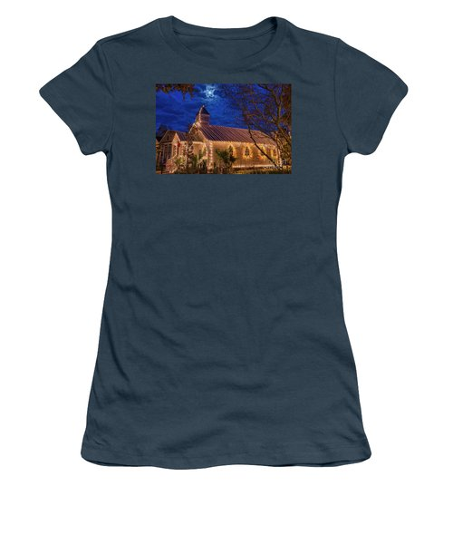 Little Village Church With Star From Heaven Above The Steeple Women's T-Shirt (Junior Cut) by Bonnie Barry