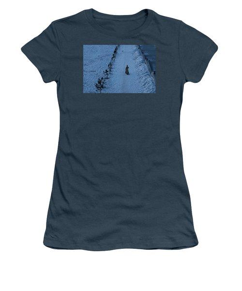 Lonely Walk/tsagaan Sar Women's T-Shirt (Junior Cut) by Diane Height