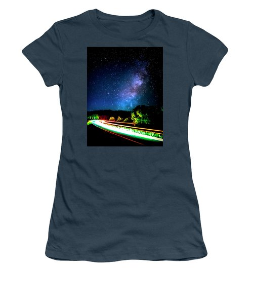 Women's T-Shirt (Junior Cut) featuring the photograph Lonesome Texas Highway by David Morefield