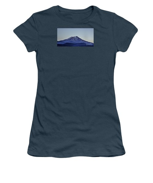 Women's T-Shirt (Junior Cut) featuring the photograph Majestic Mt Shasta by Nancy Marie Ricketts