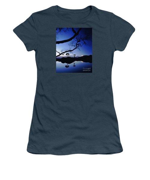 Makalu Nepal At Sunset Women's T-Shirt (Junior Cut) by Rudi Prott