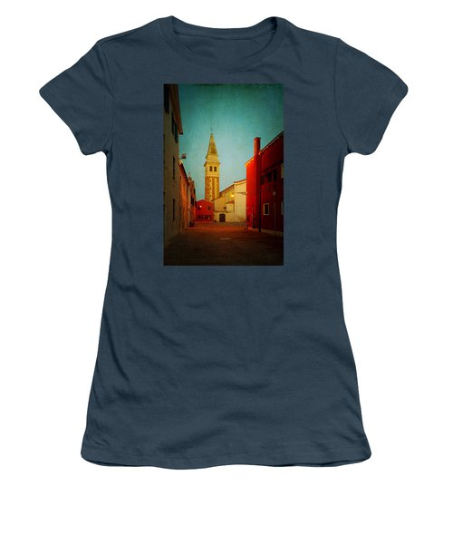 Women's T-Shirt (Junior Cut) featuring the photograph Malamocco Dusk No1 by Anne Kotan