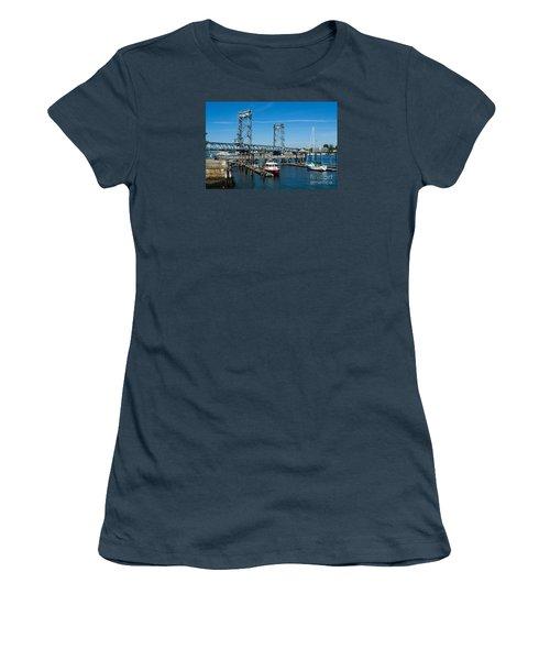 Memorial Bridge Portsmouth Women's T-Shirt (Junior Cut) by Kevin Fortier