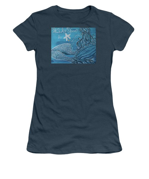 Mermaid- Wish Upon A Starfish Women's T-Shirt (Athletic Fit)