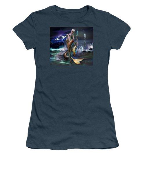 Mermaids Moon Light Women's T-Shirt (Junior Cut) by Glenn Feron