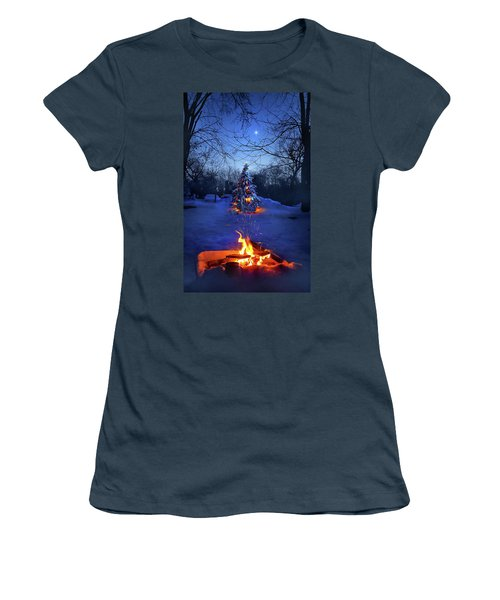 Women's T-Shirt (Junior Cut) featuring the photograph Merry Christmas by Phil Koch