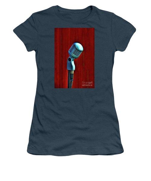 Microphone Women's T-Shirt (Junior Cut) by Jill Battaglia