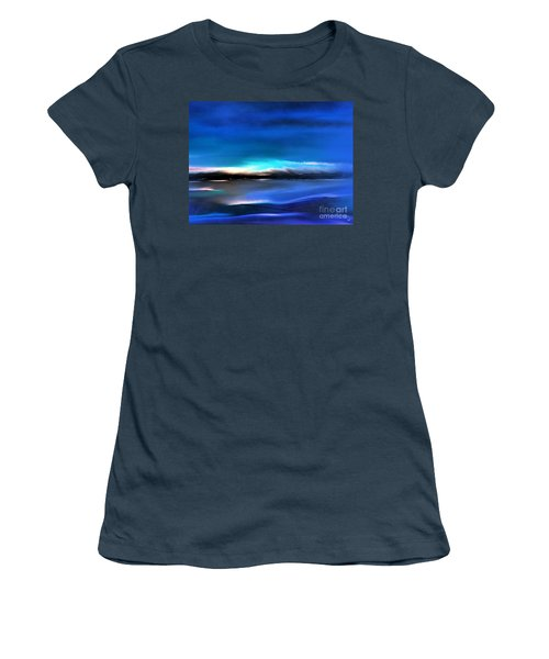 Midnight Blue Women's T-Shirt (Junior Cut) by Yul Olaivar