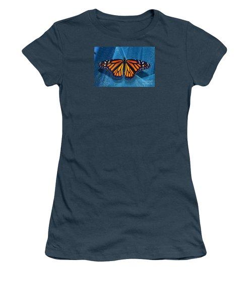 Women's T-Shirt (Junior Cut) featuring the photograph Monarch Royalty by Lew Davis