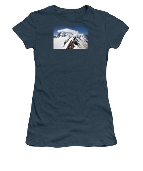 Mont Blanc And Ufo Women's T-Shirt (Junior Cut)
