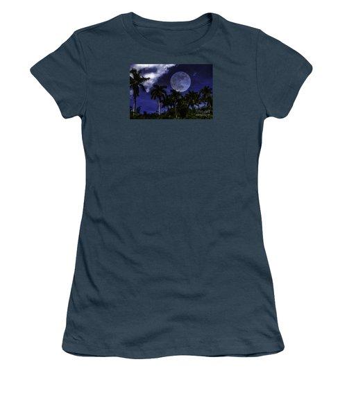 Moon Over Belize Women's T-Shirt (Junior Cut)