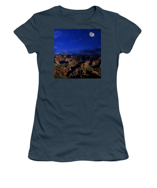 Moon Over The Canyon Women's T-Shirt (Junior Cut) by Anthony Jones